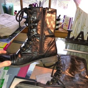 American Eagle Black Combat Boots